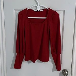 SHEIN Red Long Sleeve Blouse, Never Worn!